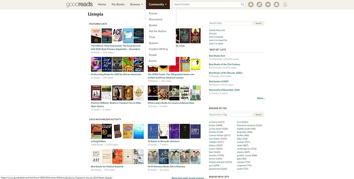 Goodreads loged in