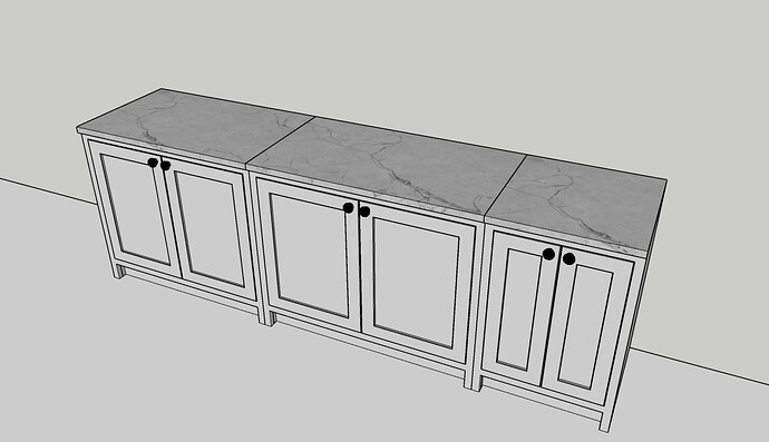 Cabinets and worktop example