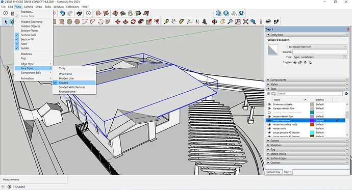 SKETCHUP COLOR CODING HELP