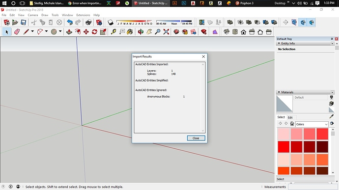 Error When Importing Dwg Sketchup Sketchup Community
