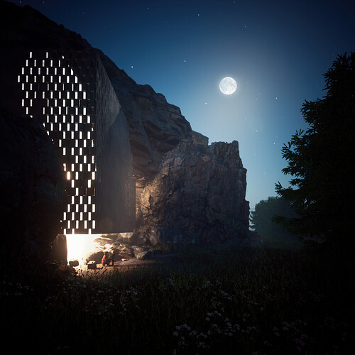 The Cliffhouse by Night
