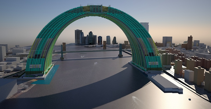 RiverArch from north midlevel view