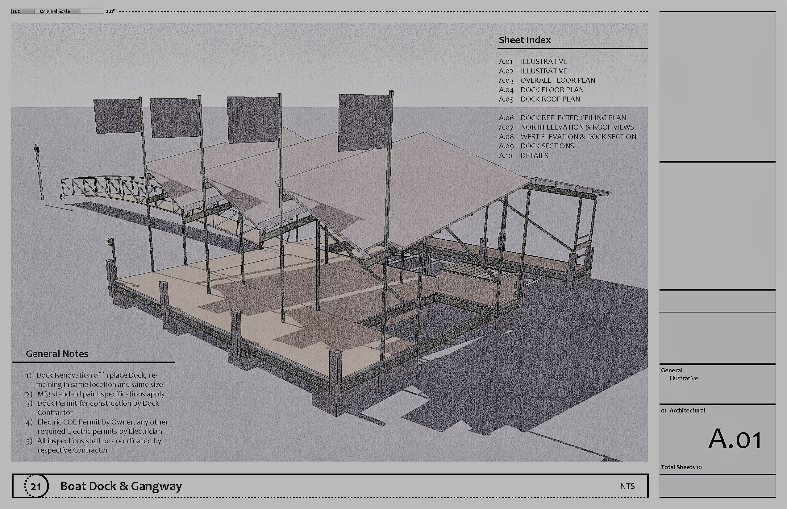 Construction Drawings - Boat Dock - Gallery - SketchUp Community