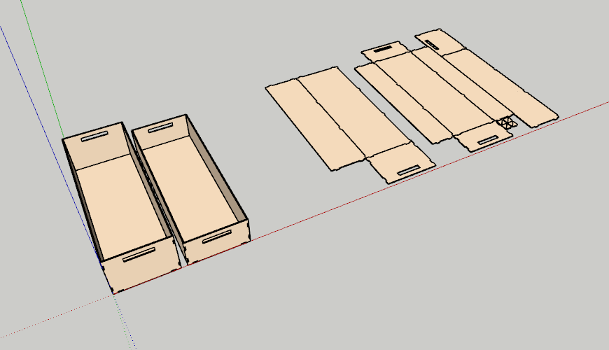 1 Plywwod boxes