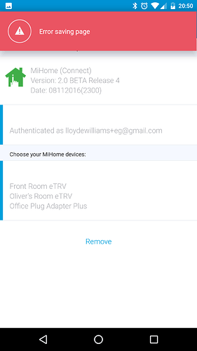 RELEASE] MiHome (Connect) V2 0 1 [Energenie] (not Xiaomi MiHome