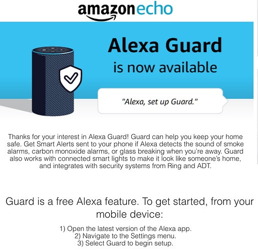 Amazon Guard Available yet? (May 2019) - Connected Things