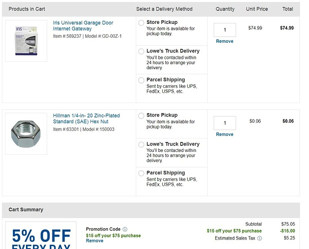 Lowe's Coupons - not updated anymore - - Deals - SmartThings Community