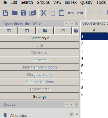 Connect to OpenOffice - Help - JabRef