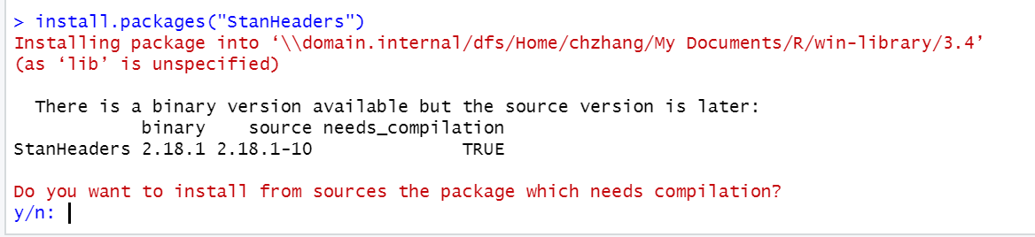 Compile issue for RStan - Interfaces - Stan