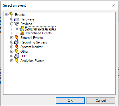 Select Event