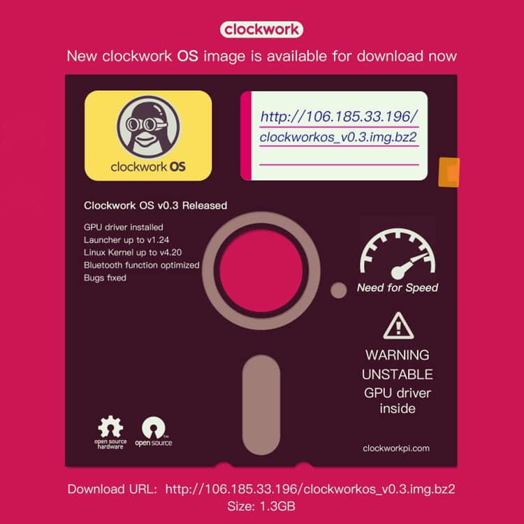 clockworkOS v0 3 with GPU driver is available! - GameShell