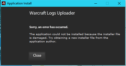 Cannot install the uploader? - Warcraft Logs