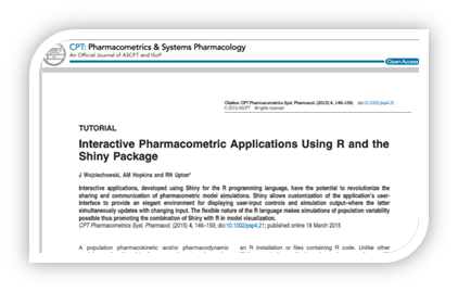Building Pharmacometric Applications using R: An online R