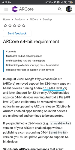 ArCore Issue
