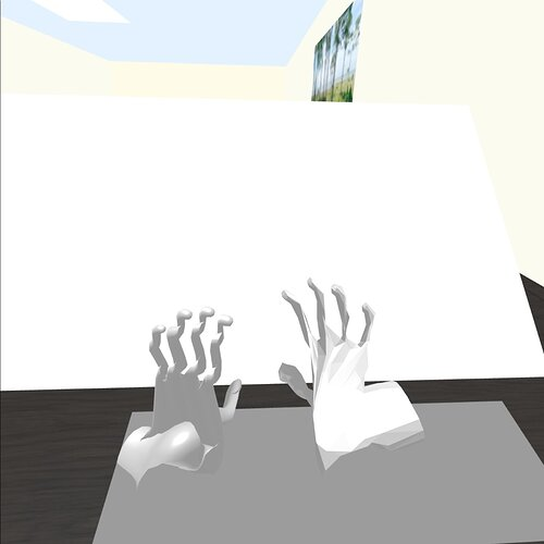 bad hands low poly right