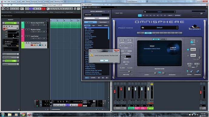 Audio Recording Aborted The Disk is Full.jpg
