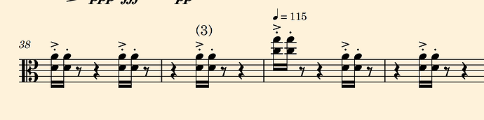Mysterious clef