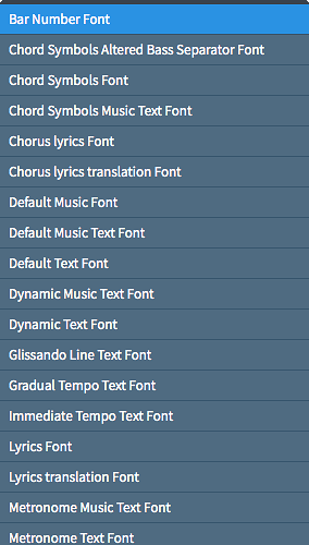 List of items available for font styles.png