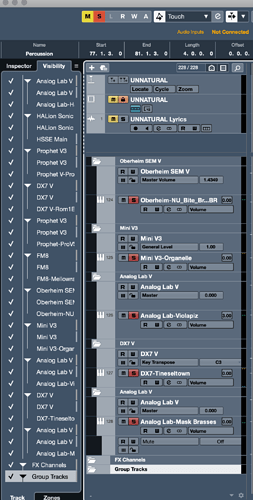Cubase-Project Window-Visibility Agents