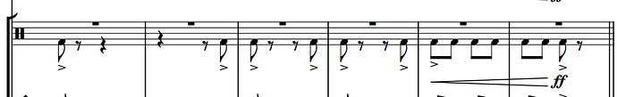 BD and Tambourine score excerpt.png