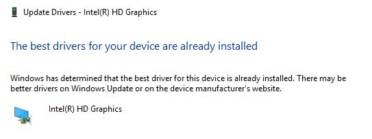 Driver up to date