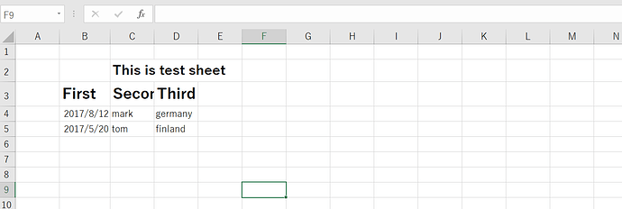 How to loop through excel sheet which does not start from
