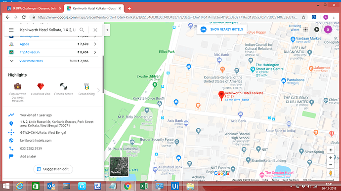Extracting address from Google Maps - RPA Dev Rookies
