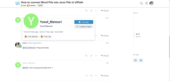 How to convert Word File into Json File in UIPath - Academy - UiPath