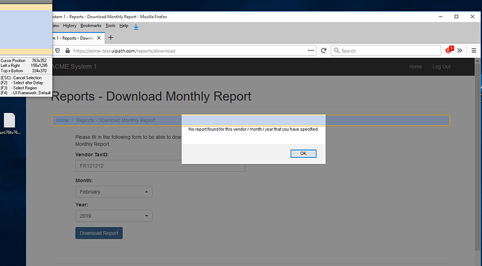 UIPath doesn't see this popup 002