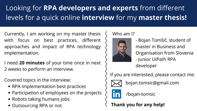 RPA interview flyer