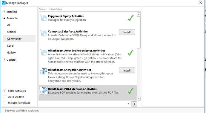 Connector Salesforce Activities - Community Feed - UiPath