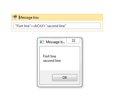 How to Enter Multiple Lines of text in Message Box - RPA Dev Rookies