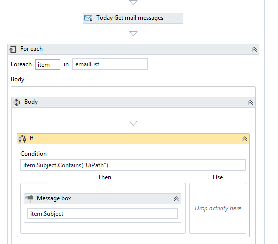 How to read Email Subject with Wildcard in Get Outlook mail messages