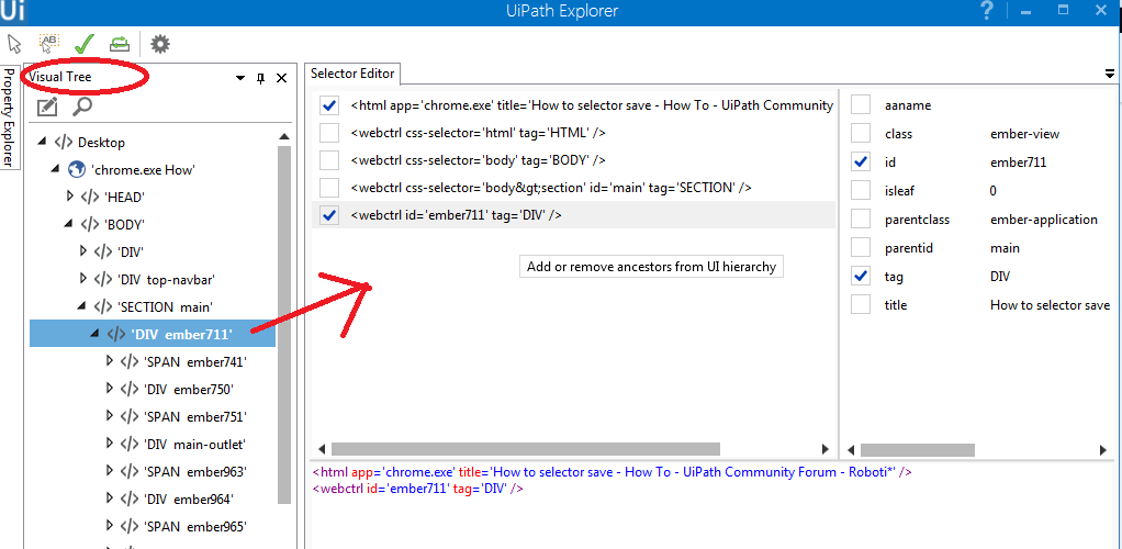How to selector save - RPA Dev Rookies - UiPath Community Forum