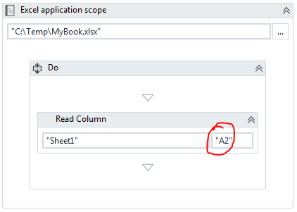 Issue in Read Column Activity - RPA Dev Advanced - UiPath