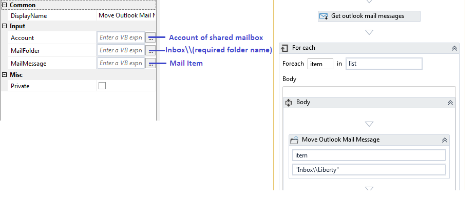 Move emails to subfolder of shared mailbox - RPA Developers