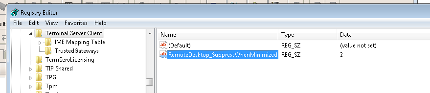 Input to Browser fails when remote desktop is not connected