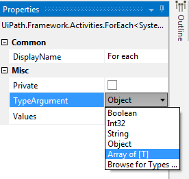 Unable to find System string type in my UiPath Studio