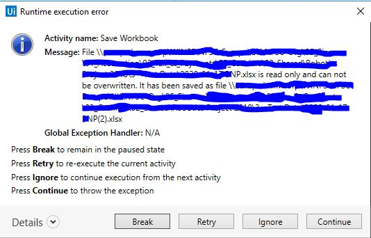 Save workbook error