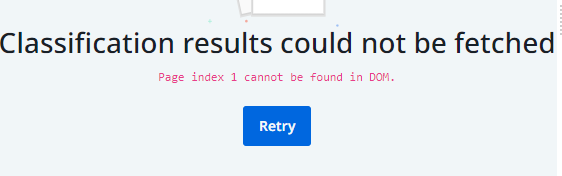 Page Index cannot be found