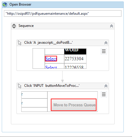 How to make two click activity in repetitive nature - RPA