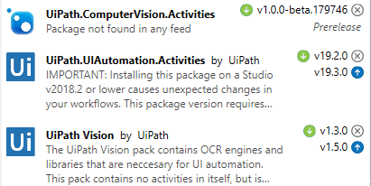Could not load type 'UiPath Vision Core NeuralNet