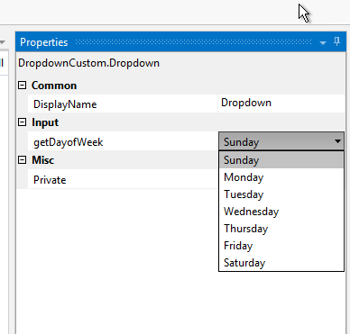 Dropdown Selection Property of Custom Activity - RPA Dev