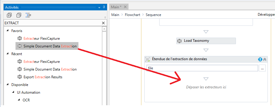How to use Simple Document Data Extraction activity in