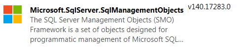 SqlManagementObjects