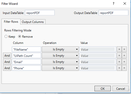 Removing empty rows from excel sheet or datatable - RPA Dev