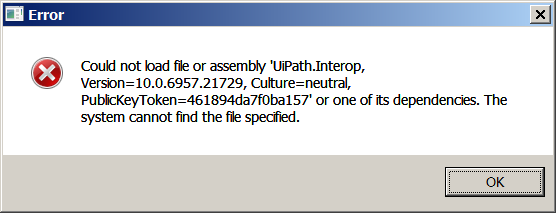 Data Scraping Extract Wizard throws Could Not load file or