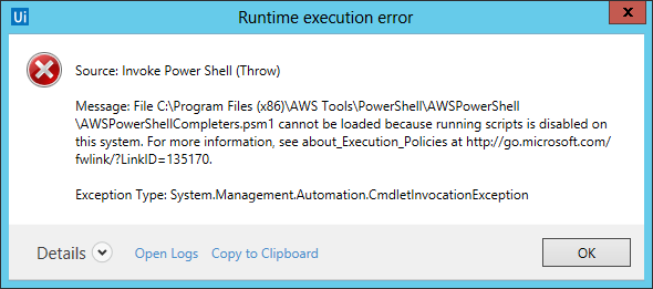 Invoke Power Shell and Execution Policy - RPA Dev Advanced - UiPath