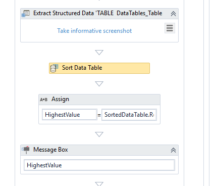 How to get the first value of a filtered table? - RPA Dev Rookies