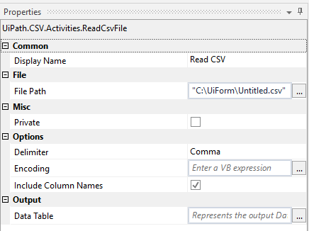 Fetching all data in specific column of csv file - RPA Dev